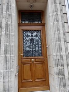Porte d'entrée à partir de l'existante
